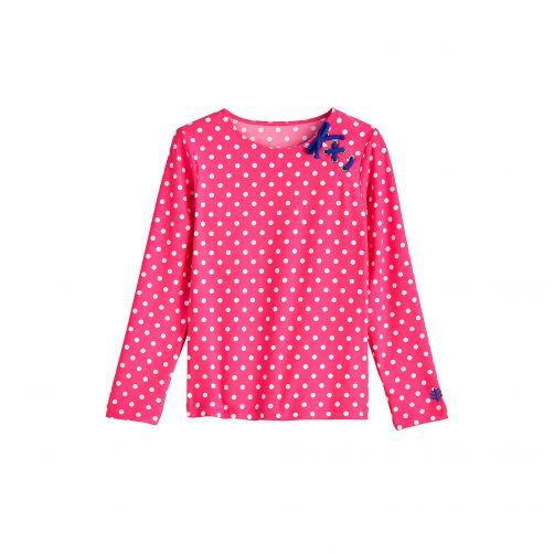 Coolibar---UV-shirt---Aloha-White-Polka-dots-