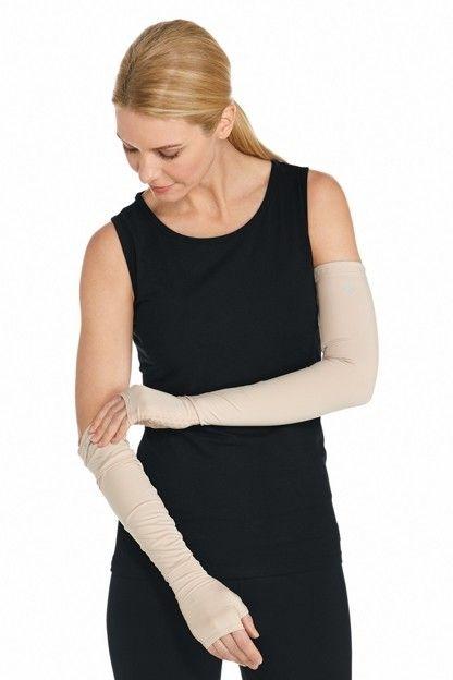 Coolibar---UV-mouwen-met-handen---Beige