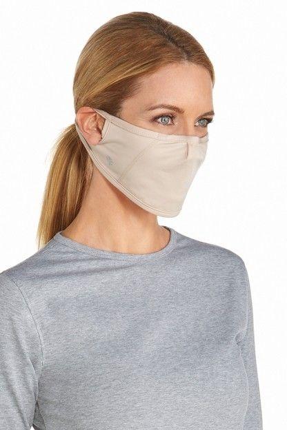 Coolibar---UV-werend-Masker-voor-volwassenen---Blackburn---Beige