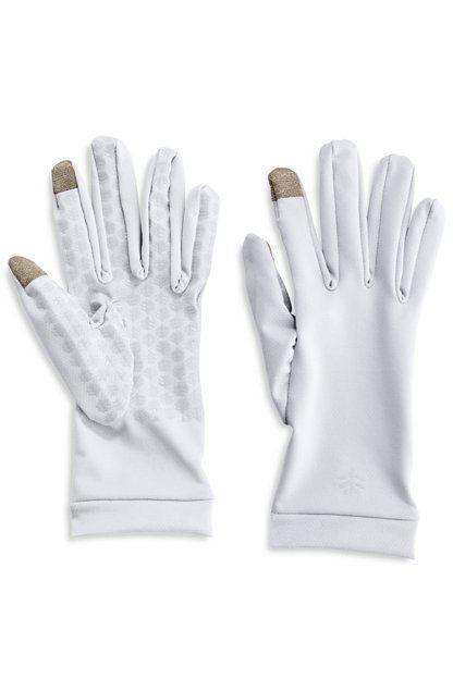 Coolibar---UV-handschoenen-met-touch-compatibiliteit---Wit