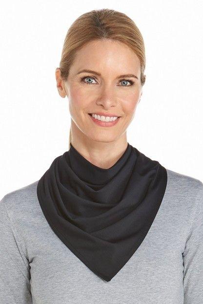 Coolibar---UV-beschermende-bandana---Zwart