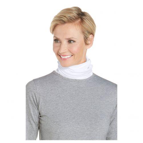 Coolibar---UV-werende-halsbescherming-voor-volwassenen---Key-West---Wit