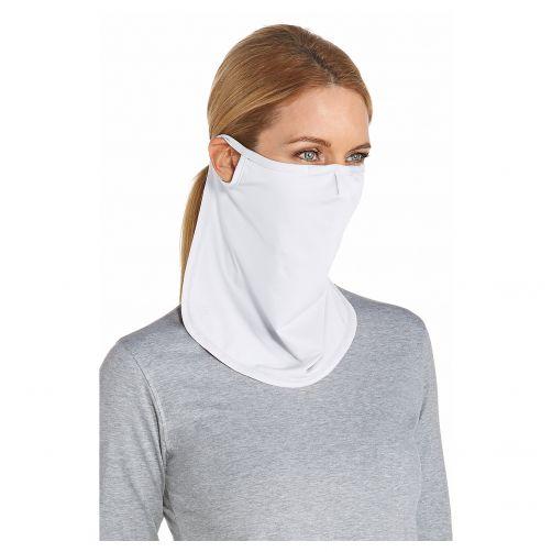 Coolibar---UV-gezichtsmasker-unisex---Lang---Wit