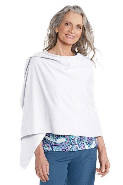 Coolibar---UV-beschermende-omkeerbare-sjaal---Wit