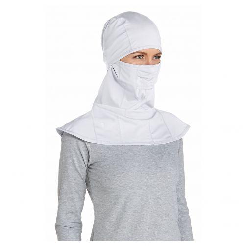 Coolibar---UV-werend-gezichtsmasker-voor-volwassenen---Alverstone---Wit