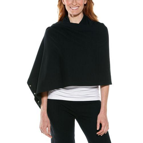 Coolibar---UV-omkeerbare-sjaal---zwart