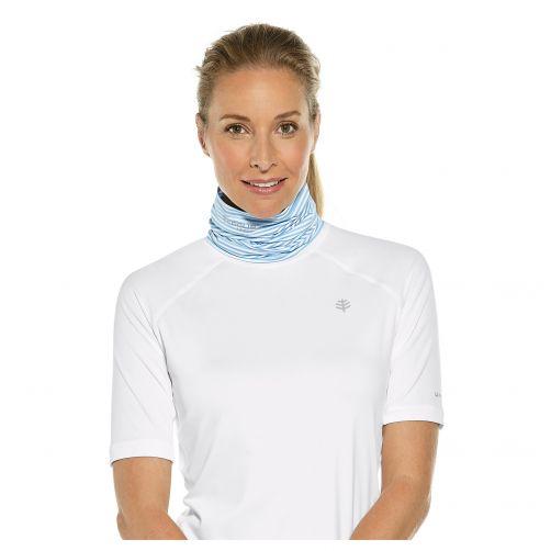 Coolibar---UV-hals--en-hoofdbescherming-dames-en-heren---blauw-wit-streep