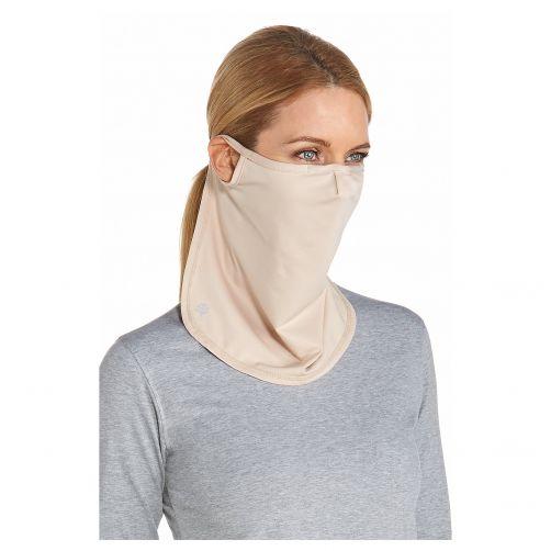 Coolibar---UV-gezichtsmasker-unisex---Lang---Beige
