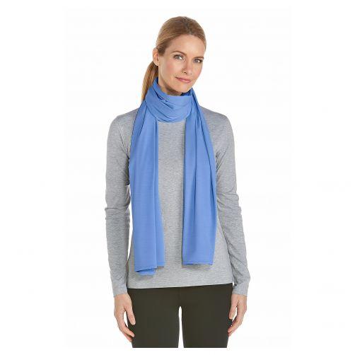 Coolibar---UV-sjaal---Sportblauw