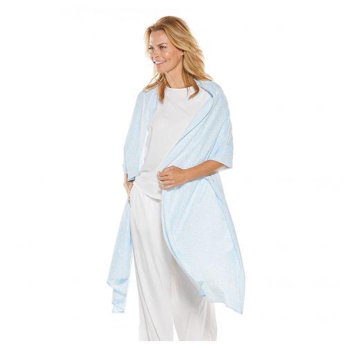 Coolibar---UV-sjaal-voor-dames---blauw-wit