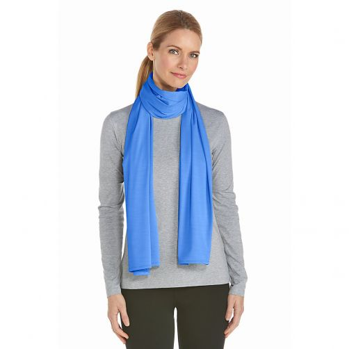 Coolibar---UV-sjaal---Helderblauw