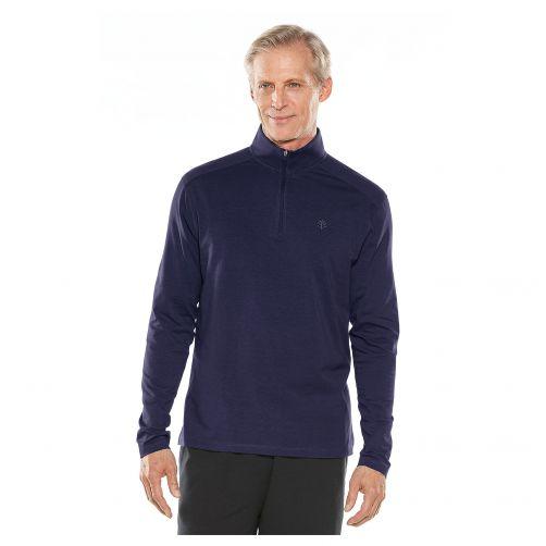Coolibar---UV-shirt-voor-heren---donkerblauw
