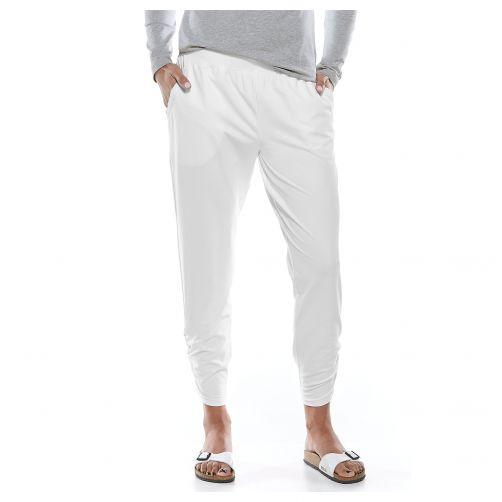 Coolibar---Casual-UV-broek-voor-dames---Café-Ruche---Wit
