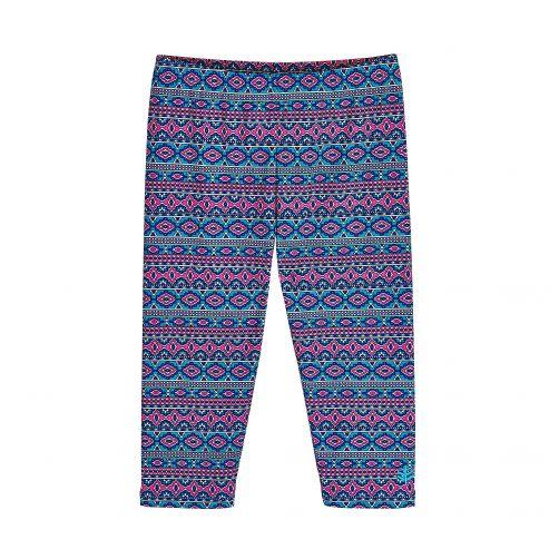 Coolibar---UV-zwemcapri-voor-meisjes---blauw/roze