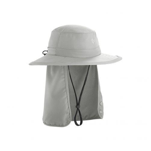 Coolibar---UV-hoed-voor-kinderen---lichtgrijs