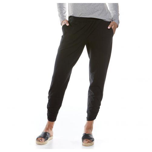 Coolibar---Casual-UV-broek-voor-dames---Café-Ruche---Zwart