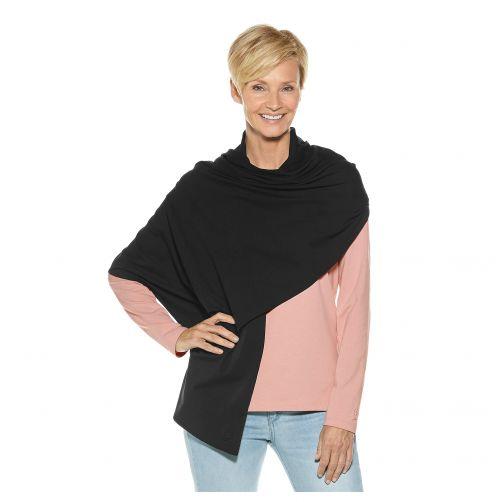 Coolibar---UV-sjaal-voor-dames---zwart