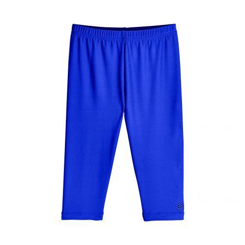 Coolibar---UV-zwemcapri-voor-meisjes---blauw