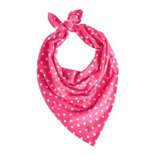 Coolibar---UV-bandana-voor-meisjes---roze-met-witte-stippen