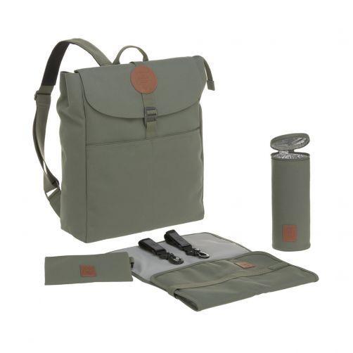Lässig---Luiertas-Adventure-Backpack---Olijfgroen