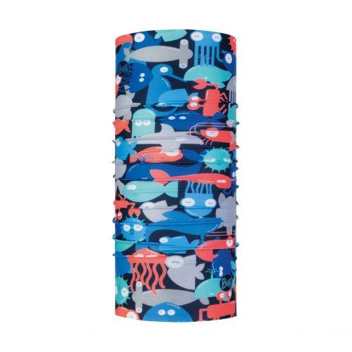 Buff---UV-sjaal-voor-baby's-buis---Coolnet-UV+-Shoal---Blauw/Koraal
