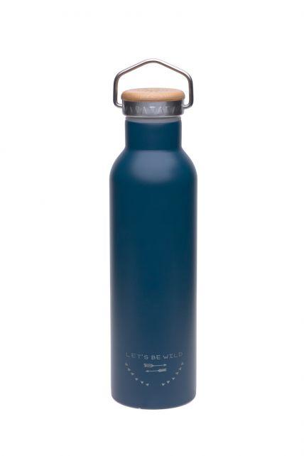 Lässig---Drinkfles---RVS---Blauw
