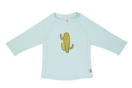 Lässig---UV-zwemshirt-lange-mouwen-kinderen---cactus--lichtblauw