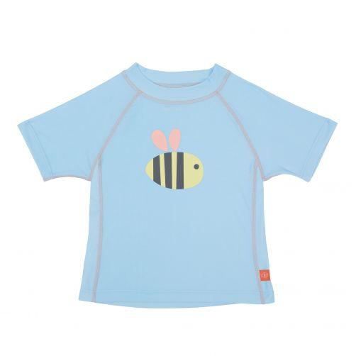 Lässig---UV-werend-zwemshirt-voor-kinderen-Bumble-Bee---Lichtblauw