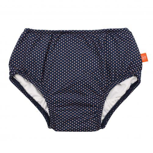 Lässig---Zwemluier-voor-baby's-Polkadots---Donkerblauw/Wit
