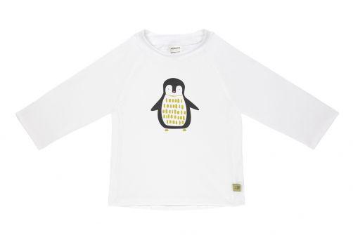 Lässig---UV-zwemshirt-lange-mouwen-kinderen---pinguïn---wit
