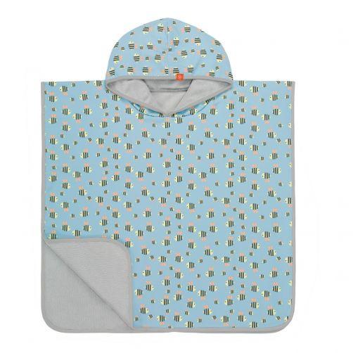 Lässig---Badcape-voor-kinderen-Bumble-Bee---Lichtblauw