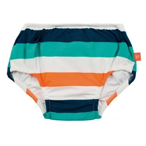 Lässig---Zwemluier-voor-baby's-Gestreept---Wit/Blauw/Perzik