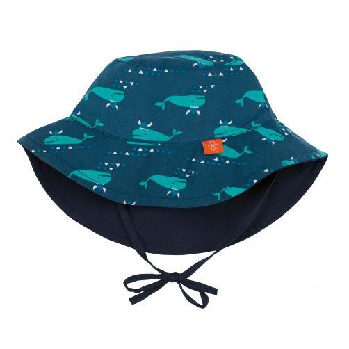 Lässig---Zonnehoedje-voor-kinderen-Blue-Whale---Blauw