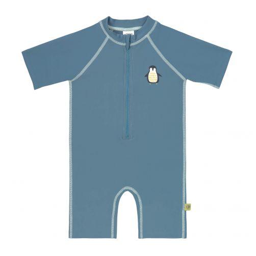 Lässig---UV-pakje-met-korte-mouwen-kinderen---pinguïn---blauw