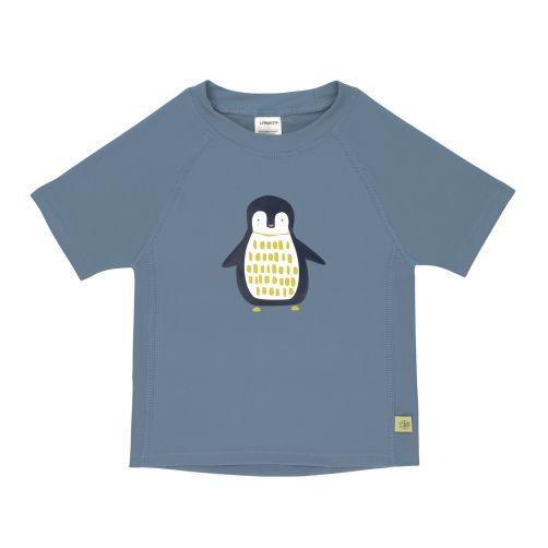 Lässig---UV-zwemshirt-korte-mouwen-kinderen---pinguïn---blauw