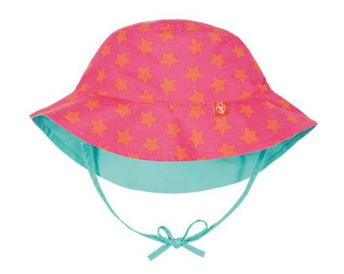 Lässig---UV-zonnehoedje-voor-kinderen-Stars---Roze/Perzik