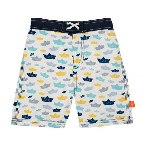 Lässig---Zwemshort-voor-jongens-Boat---Wit/Blauw/Geel