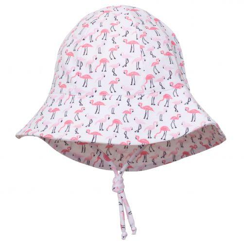 Petit-Crabe---UV-werende-zonnehoed-voor-kinderen---Flamingo---Wit/Roze