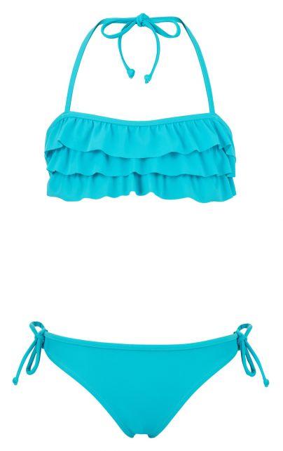 Snapper-Rock---Bandeau-bikini-voor-meisjes---Aqua-Ruffle-