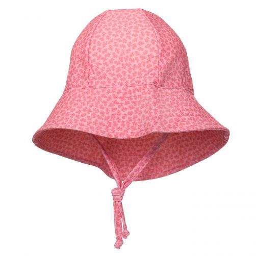 Petit-Crabe---UV-werende-zonnehoed-voor-kinderen---Bloemen---Roze