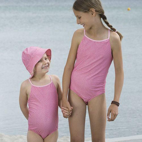 Petit-Crabe---UV-werend-badpak---Bloemen---Roze