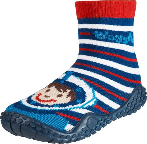 Playshoes---Zwemsokken-voor-kinderen---Duikerprint---Rood/blauw/wit