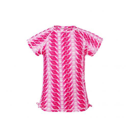 Snapper-Rock---UV-zwemshirt-voor-meisjes---Fushia-veren