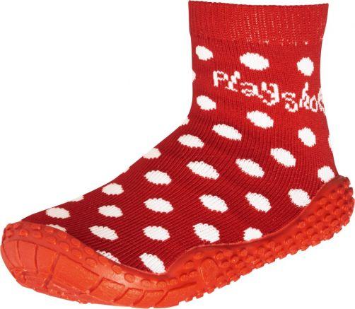 Playshoes---Zwemsokken-voor-kinderen---Stippen---Rood