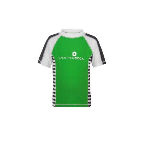 Snapper-Rock---UV-zwemshirt-voor-kinderen---Groen/Slate-strepen