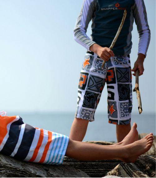 Snapper-Rock---UV-zwemshirt-voor-kinderen---Grijs/Wit