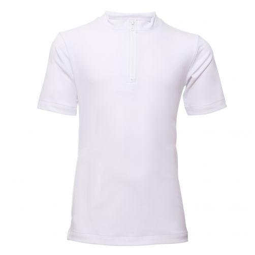 Petit-Crabe---UV-werend-shirt-korte-mouwen-en-rits---Wit