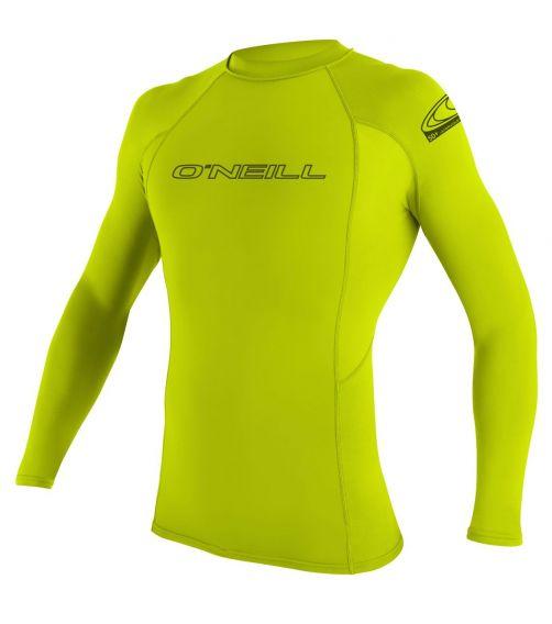 O'Neill---UV-shirt-voor-heren---Longsleeve---Basic-Rash---Limoen