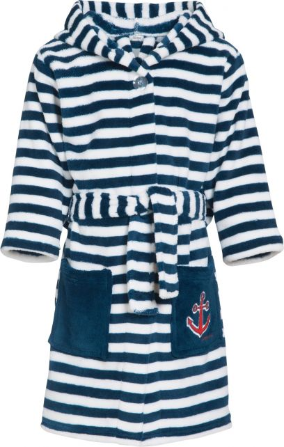 Playshoes---Fleecebadjas-voor-kinderen---Maritiem---Navy-blauw-/-wit