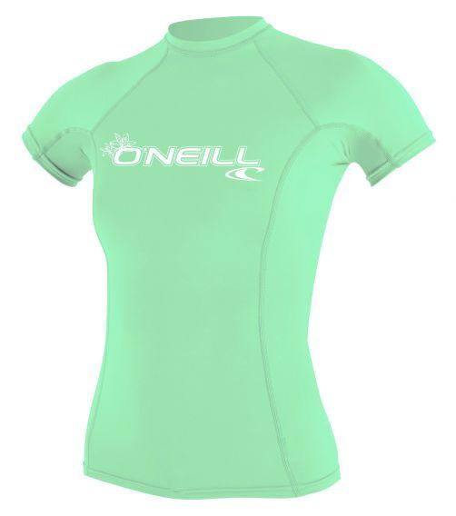 O'Neill---UV-shirt-voor-dames-met-korte-mouwen---Basic-Rash---Aqua